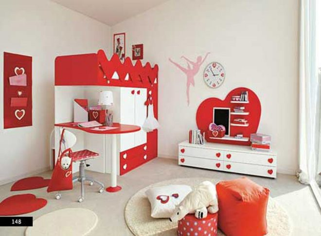 red white loft kids bedroom design kids bedroom designs