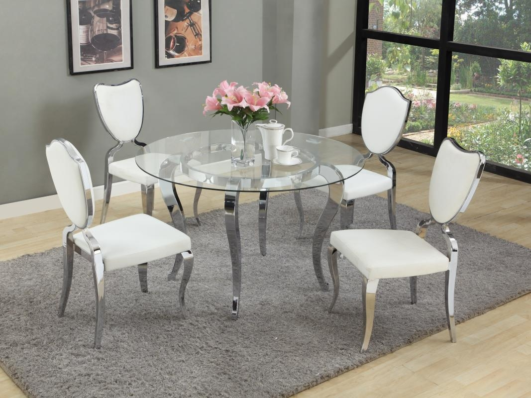 refined round glass top dining room furniture dinette sacramento