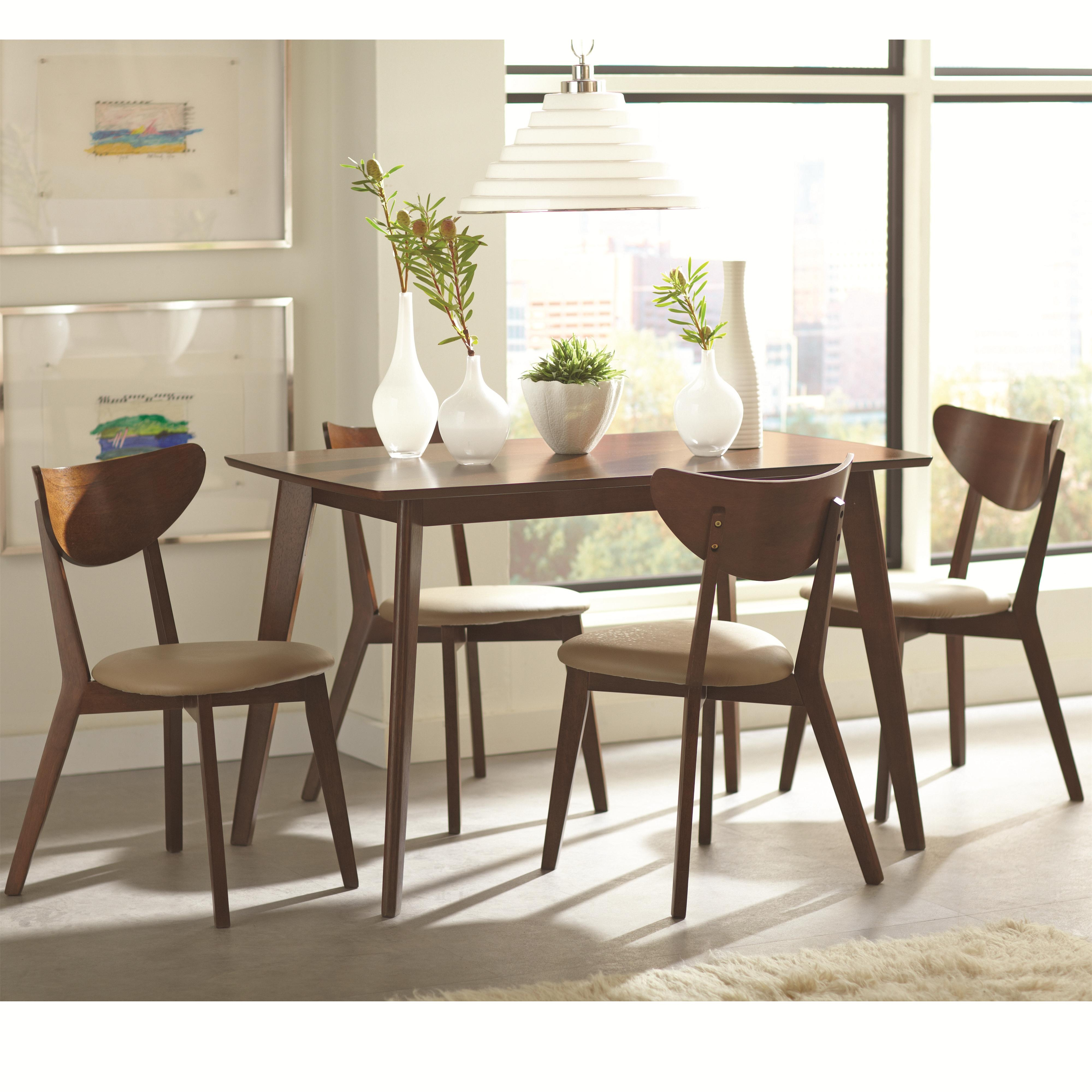regular height casual dining retro style dining table co 103061