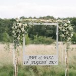 relaxed bohemian summer meadow wedding photo booth