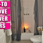 removing shower doors replace with curtain youtube