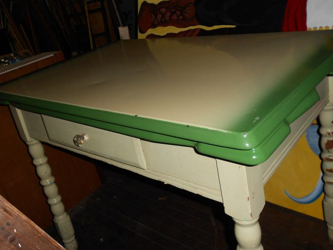 renew2you vintage retro metal top green kitchen table