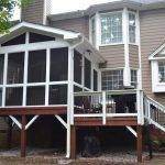 replacing a small deck with a larger screened porch and deck