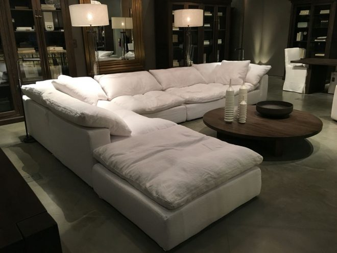 restoration hardware sectional cloud couch couches