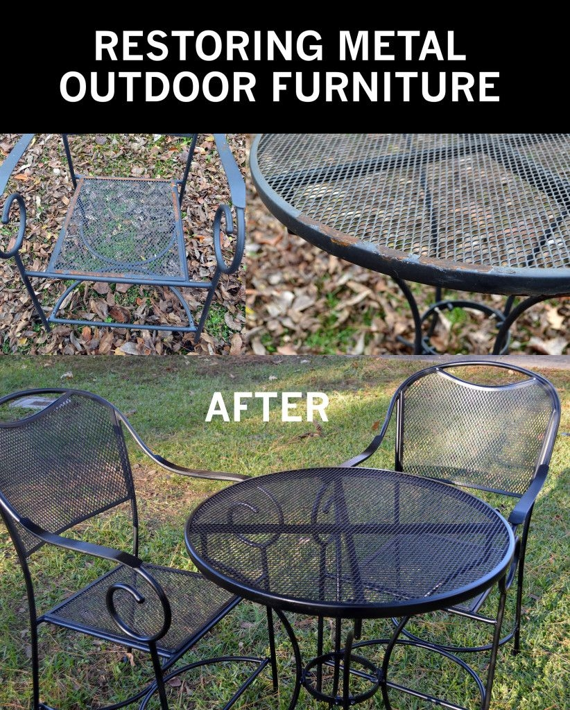 restore metal outdoor furniture to like new patio