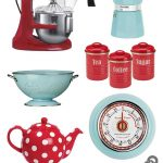 retro blue postbox red kitchen home decor theme kitchen