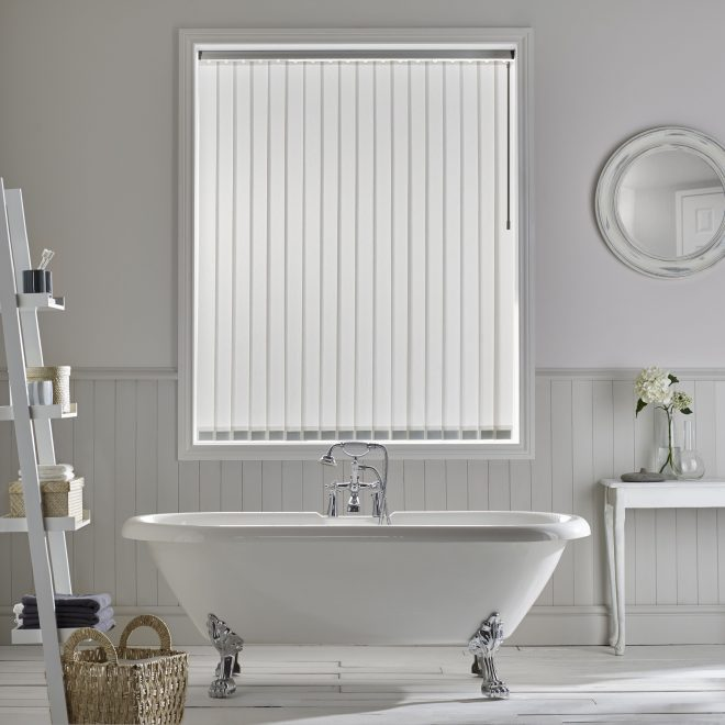ribbons vertical blind style studio bathroom blind white decor
