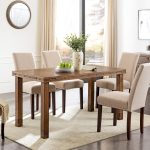 righon rustic industrial dining table modern farmhouse brown