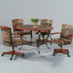 rolling dining room chair sets dining chairs design ideas
