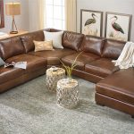 room size top grain italian leather sectional with right side chaise