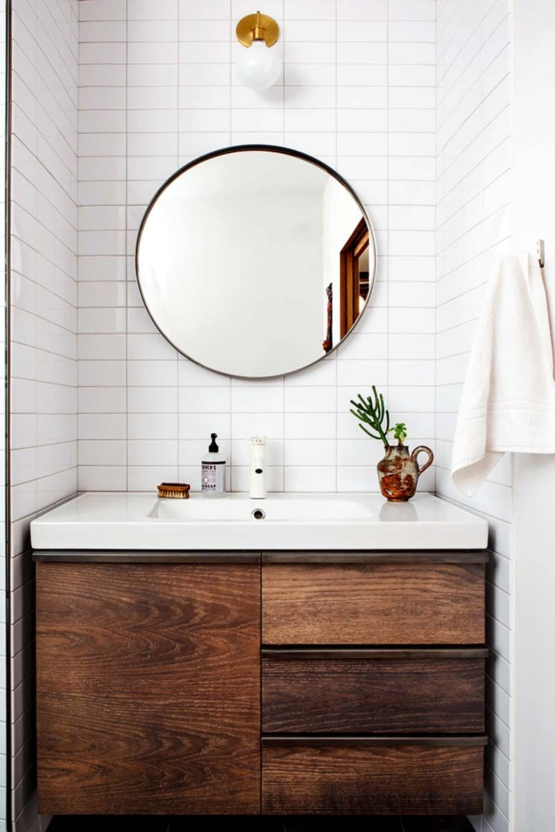 round mirrors are the next big thing for the bathroom home half