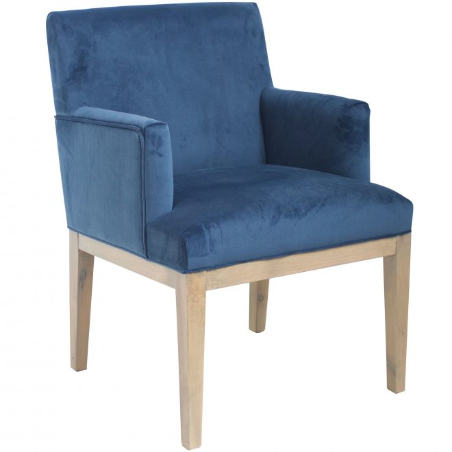 royal blue brook velvet dining chair