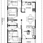 ruben model is a simple 3 bedroom bungalow house design with total