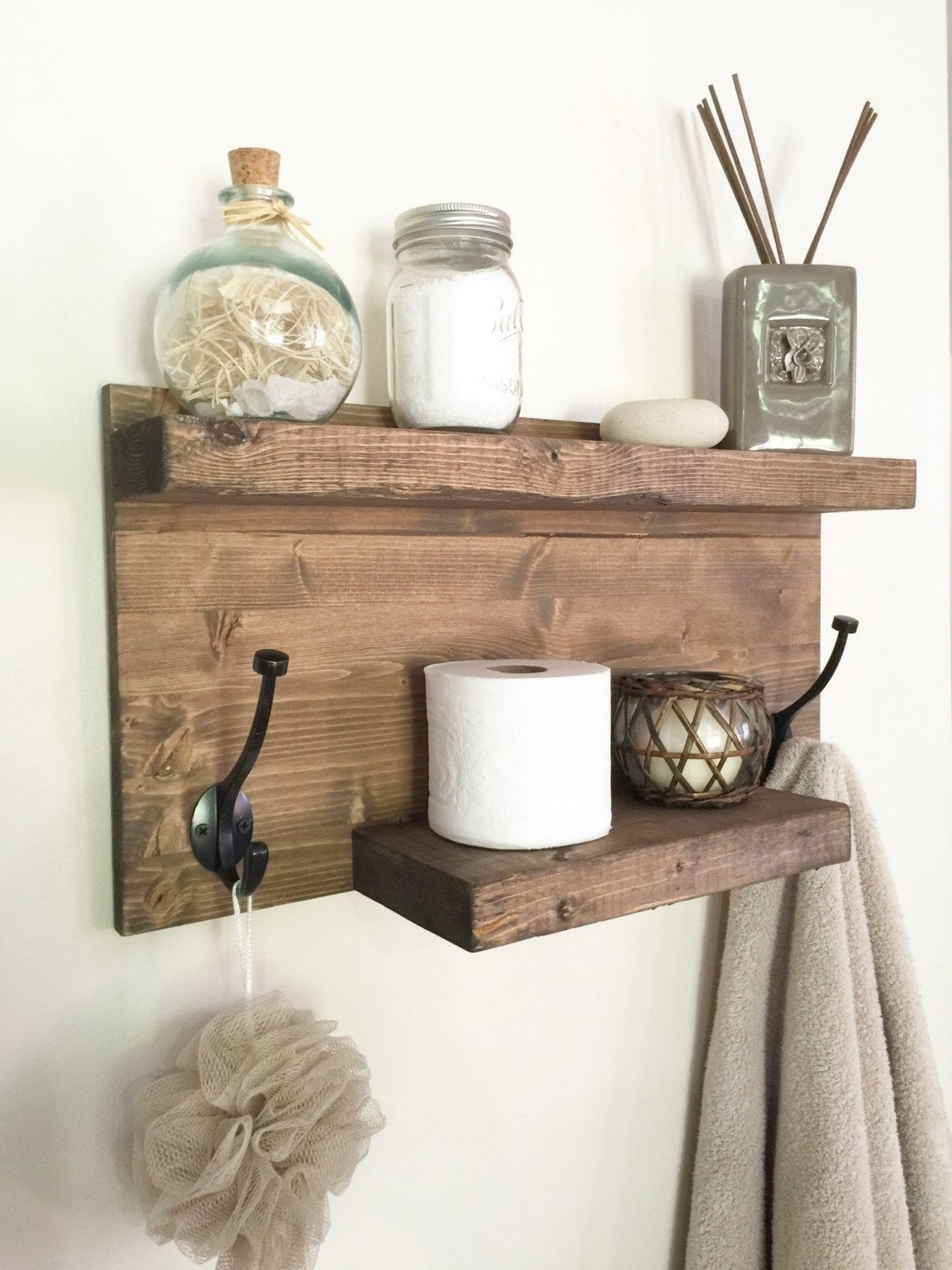 rustic bathroom shelf rustic wood shelf towel rack entryway shelf