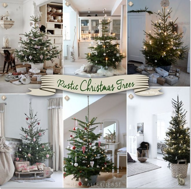 rustic christmas trees so simple and stylish