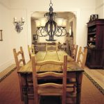 rustic cottage cabin dining room wooden table and chairs