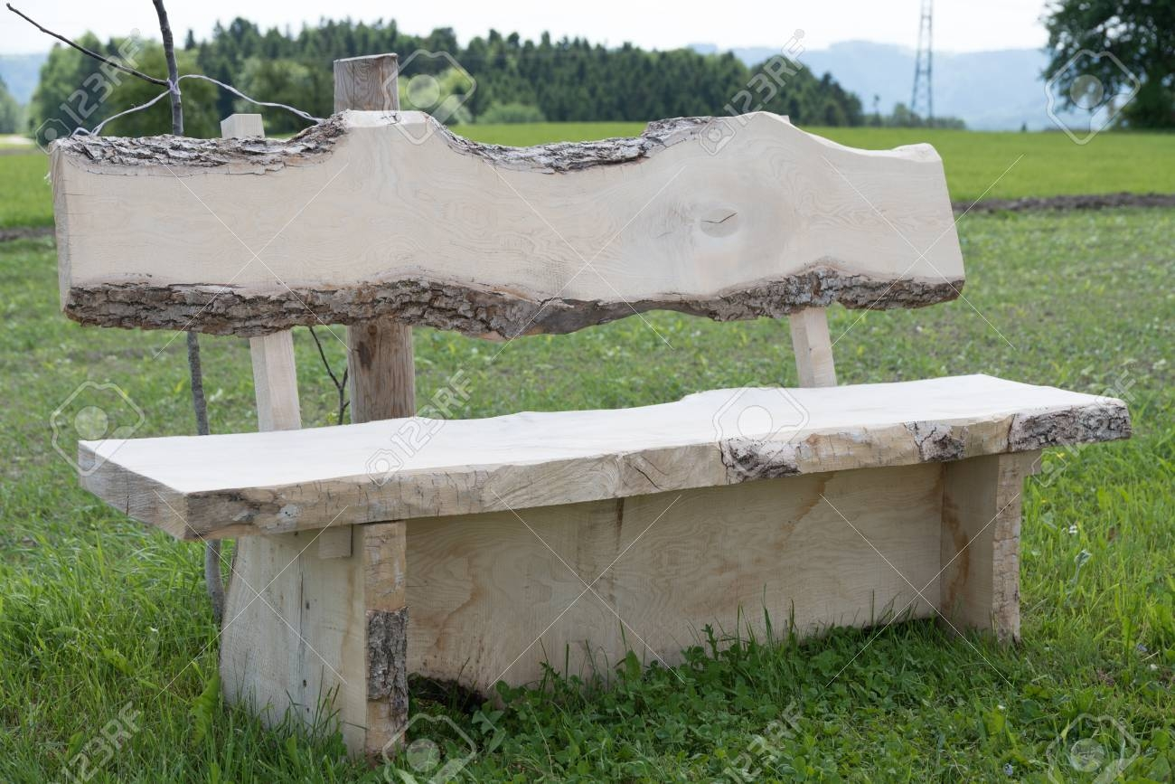 rustic garden bench made of solid hardwood