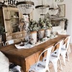 rustic glam farmhouse christmas dining room farmhouse