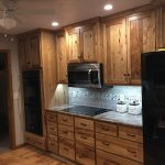rustic hickory kitchen cabinets wheatstate wood design lf