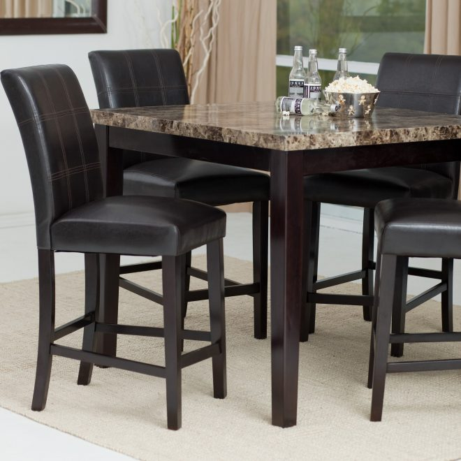 rustic indoor dining set tall chairs height bunch piece bistro