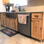 rustic kitchen remodel with hickory custom cabinets buck