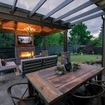 rustic modern outdoor living paradise restored landscaping