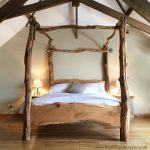 rustic oak four poster tree bed beautiful chunky wooden bed