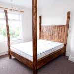rustic pine four poster bed