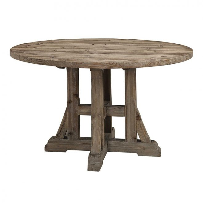 rustic round farmhouse dining table