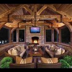 rustic screened porch house outdoor fireplace designs