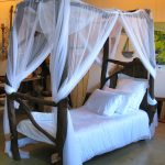 rustic single four poster bed