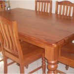 rustic solid oak extending dining table second hand kitchen tables