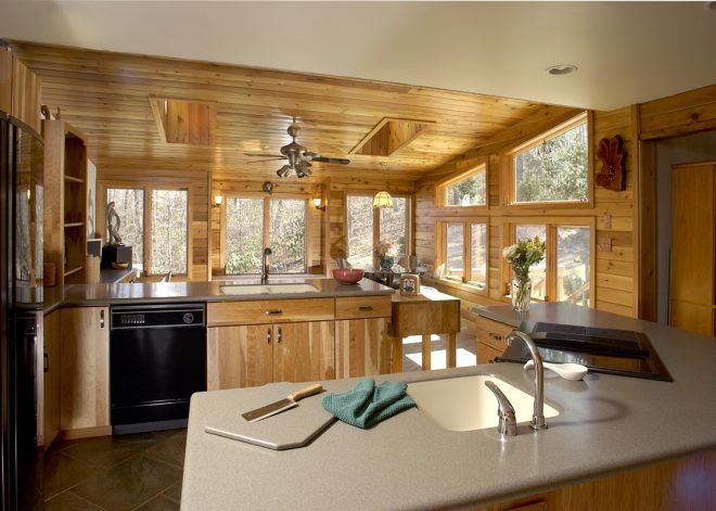 rustic sunroom addition and kitchen remodel bel air