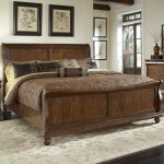 rustic traditions queen sleigh bed set