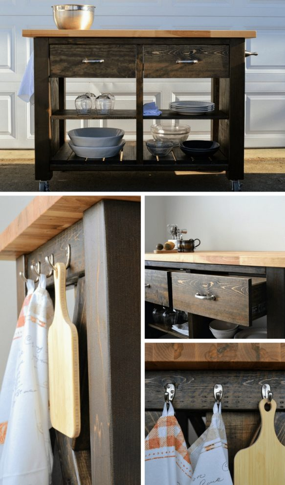 rustic x kitchen island inspired pottery barn diy