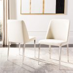 safavieh dining mid century modern baltic linen beige dining chairs set of 2