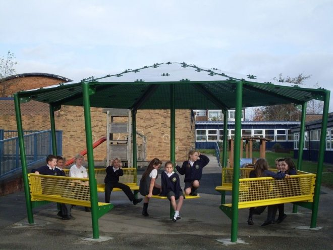 school outdoor shelters uk school shelters amv playgrounds