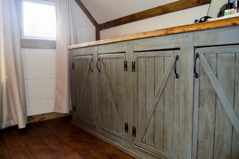 scrapped the sliding barn doors rustic cabinet doors