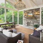 screened porch and garage oasis patio porch fireplace screened