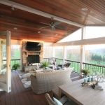 screened porch with fireplace screen design ideas maryland
