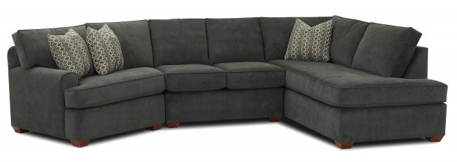 sectional sofa with right facing sofa chaise klaussner wolf