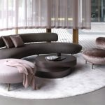 seductive curved sofas for a modern living room design