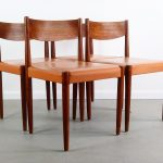 set of 4 poul volther for frem rojle danish modern dining chairs