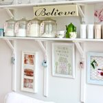 shab chic kitchen shelving idea for ideal space saver homesfeed
