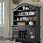 sharlowe charcoal dining room hutch d635 61 hutch