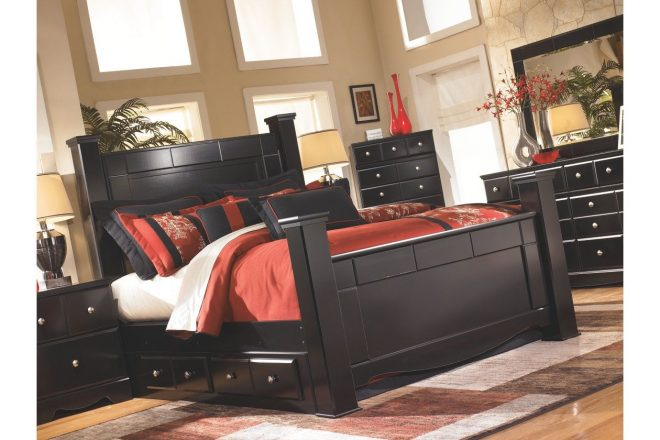 shay queen poster storage bed in 2019 my home black