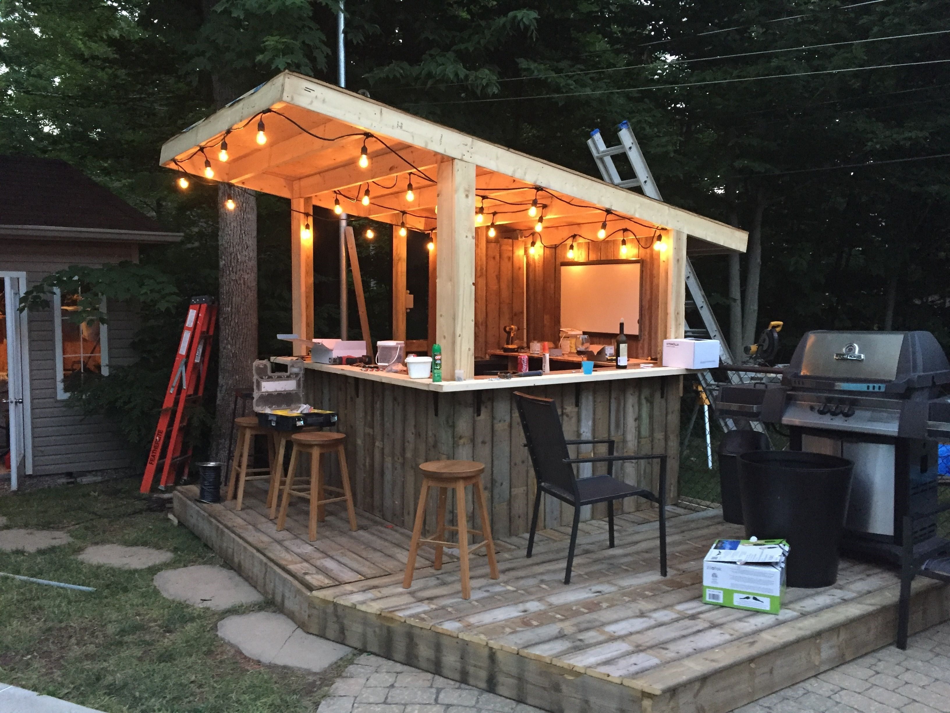 shed ideas tiki bar backyard pool bar built with old patio wood