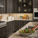 shenandoah cabinets in cherry slate mission style at lowes