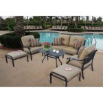 shop darlee nassau black cast aluminum 6 piece outdoor patio