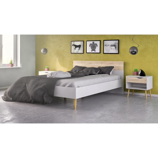 shop diana two tone wooden queen bed free shipping on orders over